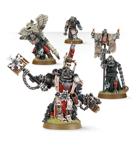 Black Templars Chaplain Grimaldus & Retinue