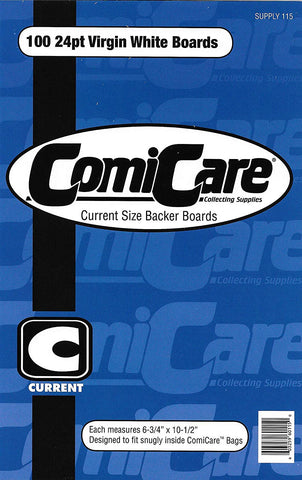 "ComiCare Current Comic Book Backing Boards 6-3/4"" x 10 1/2"""