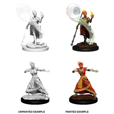 Dungeons & Dragons Nolzur'S Marvelous Miniatures: Fire Genasi Wizard (Female) - Roleplaying Games - The Hooded Goblin