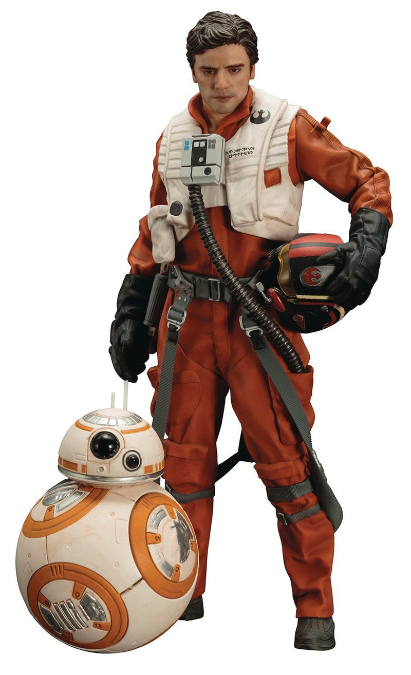Kotobukiya Star Wars: Poe Dameron & BB8 ARTFX+ Statue - Statue - The Hooded Goblin