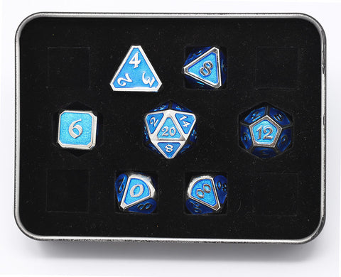 Die Hard Dice - Mythica Platinum Aquamarine