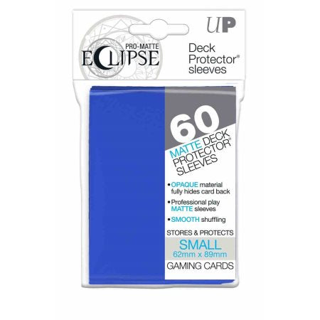 ULTRA PRO: ECLIPSE DECK PROTECTOR - PACIFIC BLUE SMALL 60CT - Card Game Supplies - The Hooded Goblin