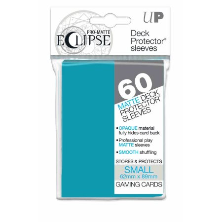 UP D-PRO SML ECLIPSE SKY BLUE MATTE 60CT - Card Game Supplies - The Hooded Goblin
