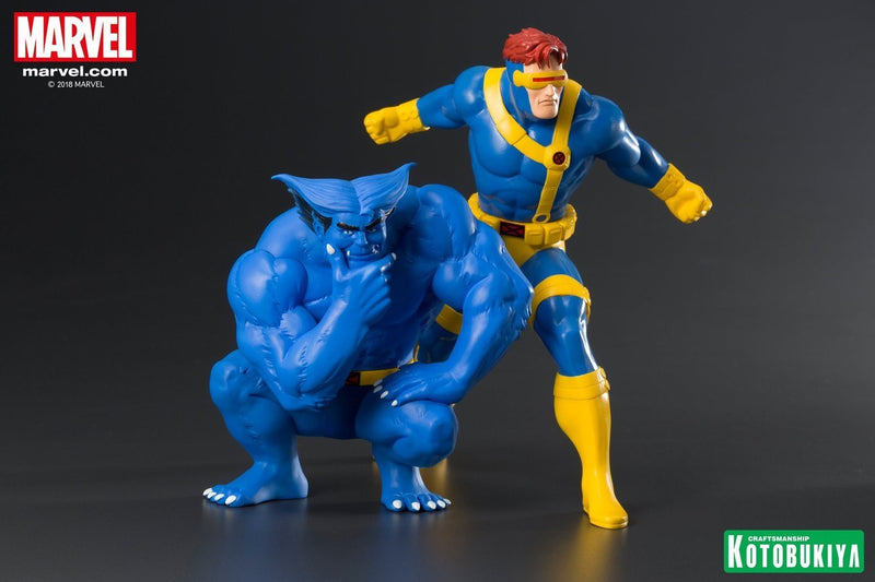 Marvel X-Men '92 Artfx+ Cyclops & Beast Statue 2-Pack - Statue - The Hooded Goblin