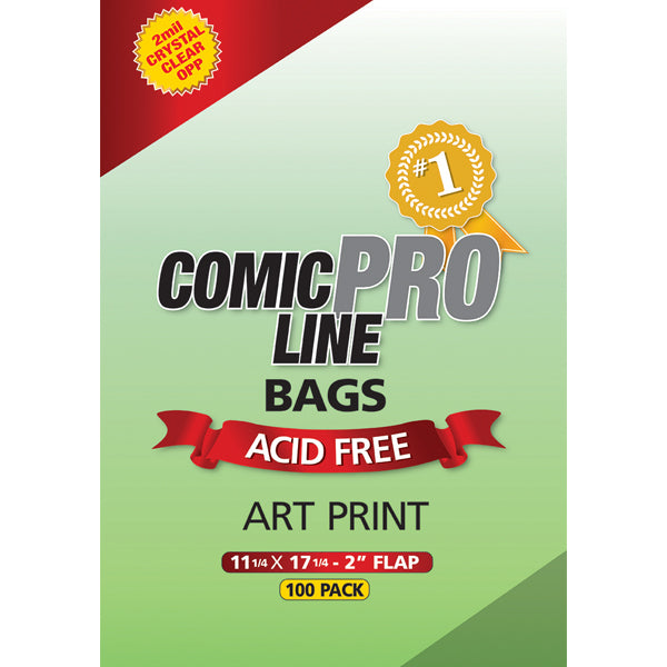 Comic Bags: Art Print Size – 11 1/4″ x 17 1/4″ with 2″ flap - Comic Supplies - The Hooded Goblin
