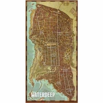 "GALE FORCE NINE - D&D GAME MAT - WATERDEEP (20""X40"")"
