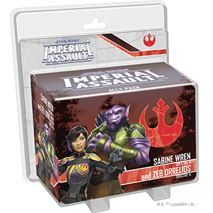 STAR WARS IMPERIAL ASSAULT - SABINE WREN AND ZEB ORRELIOS ALLY PACK