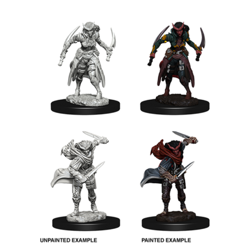 DND UNPAINTED MINIS WV 5 TIEFLING FEMALE ROGUE