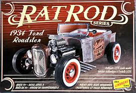 LINDBERG FORD ROADSTER RAT ROD FROM ROUND 2 MODELS model kit - Model Kit - The Hooded Goblin