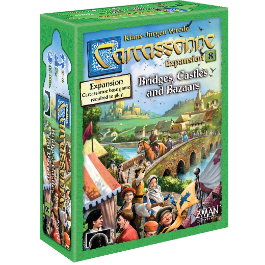 Carcassonne - Bridges, Castles & Bazaars - Board Game - The Hooded Goblin