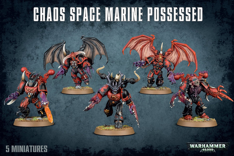 Chaos Space Marines Possessed - Warhammer: 40k - The Hooded Goblin