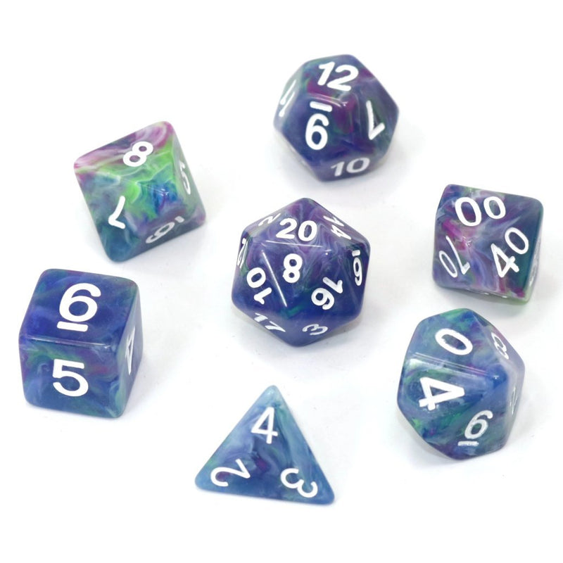 POLY RPG SET - MUSE Die Hard dice - Dice - The Hooded Goblin
