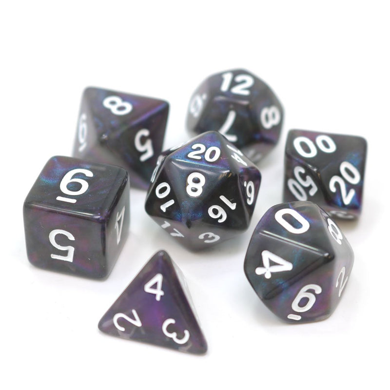 POLY RPG SET - COPPER/PURPLE ALLOY - Dice - The Hooded Goblin