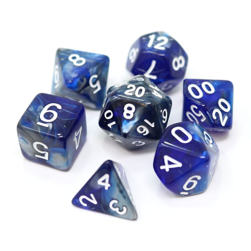 POLY RPG SET - COLD IRON Die Hard dice - Dice - The Hooded Goblin