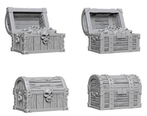 Pathfinder Battles Deep Cuts Unpainted Miniatures: Chests - Dungeons and Dragons - The Hooded Goblin