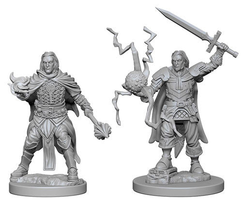Pathfinder Battles Deep Cuts Unpainted Miniatures: Human Male Cleric (2) - Roleplaying Games - The Hooded Goblin