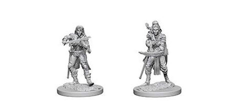 Pathfinder Battles Deep Cuts Unpainted Miniatures: Elf Female Bard (2)