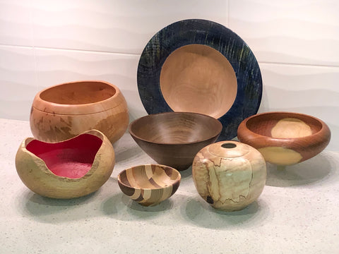 Hand-Turned Wooden Bowls