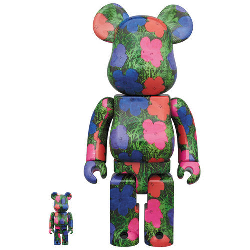 Andy Warhol Flowers 400% Bearbrick Set