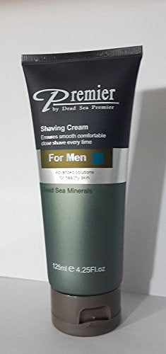 Premier Dead Sea Shaving Cream for Men (Tube) 4.2268-Fluid Ounce