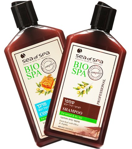 Sea Of Spa Bio Spa 1 Conditioner and 1Shampoo for Normal to Dry Hair enriched with Olive oil, Jojoba & Honey (2 Pack)
