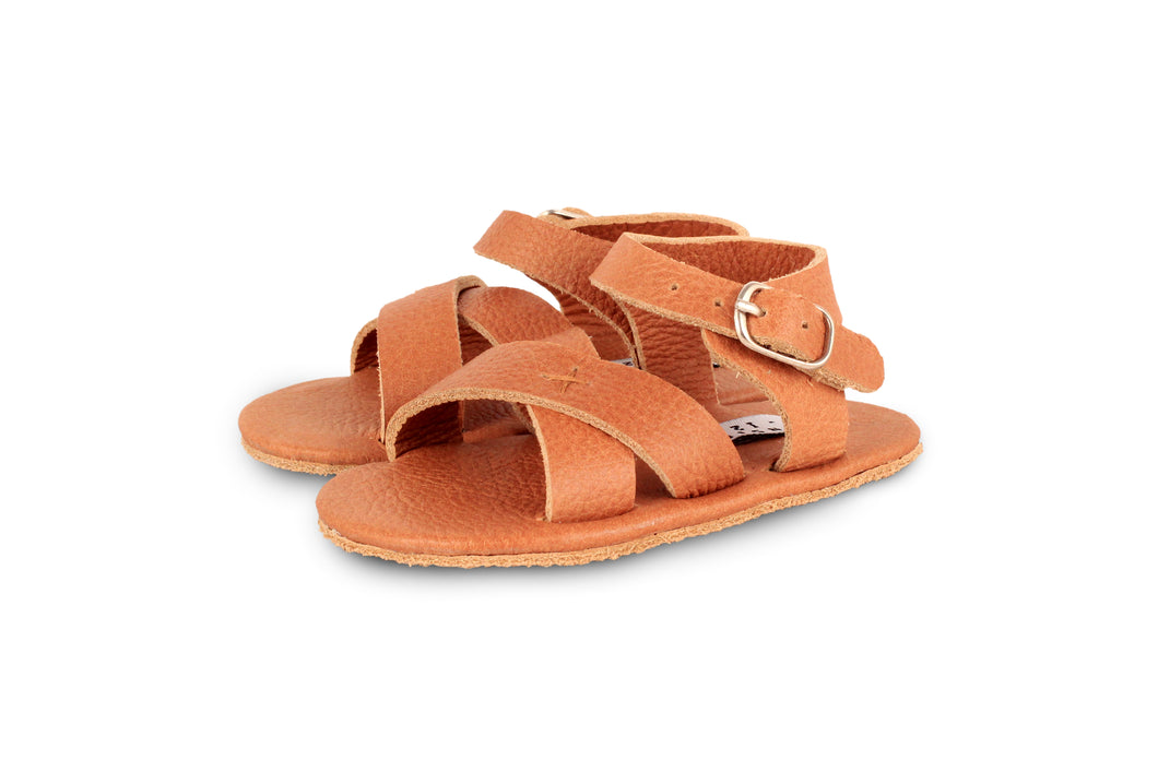 GIGGLES SANDAL - COGNAC CLASSIC LEATHER