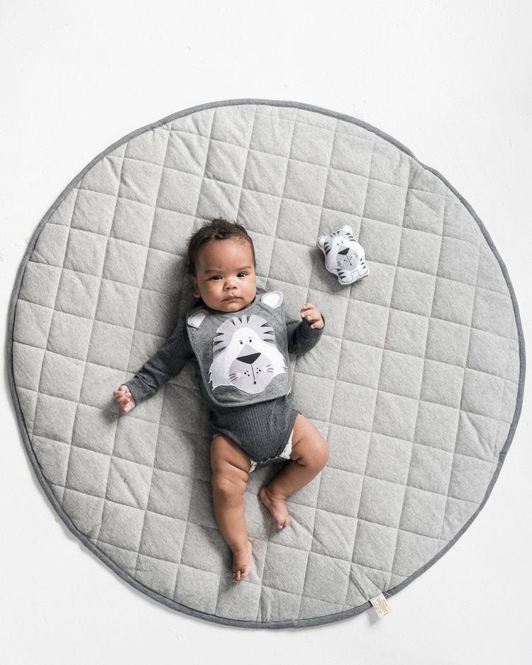 CHARCOAL QUILTED PLAYMAT