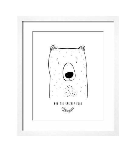 MODERN ART PRINT - BOB THE GRIZZLY BEAR