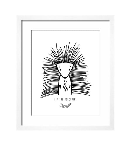 MODERN ART PRINT - PIP THE PORCUPINE