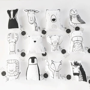 SOFT TOY PILLOW - BENJAMIN THE BADGER