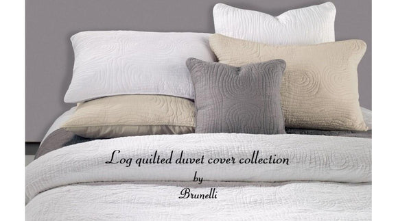 Log Quilted Duvet Cover Collection by Brunelli