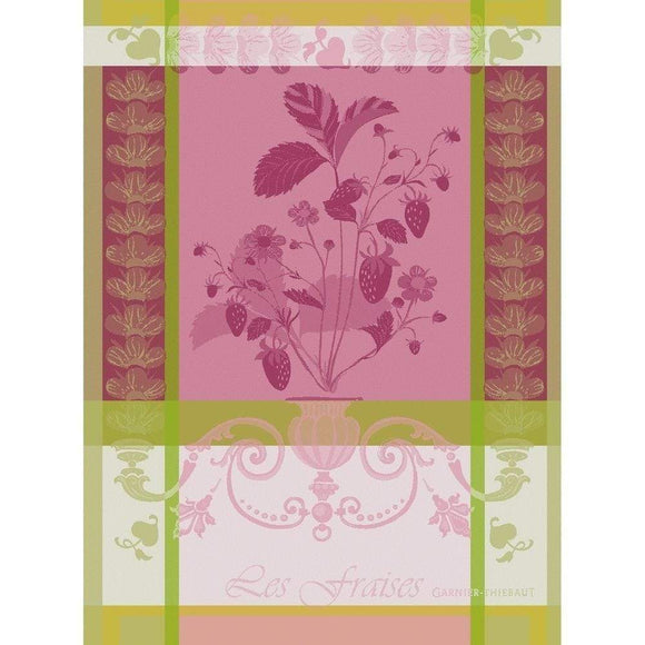 Fraisier Rose Kitchen Towel-Gina's Home Linen Ltd