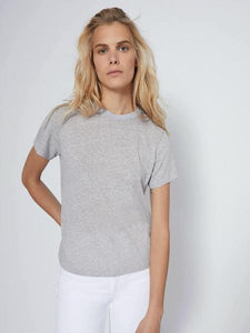 Classic Tee in Heather Grey, RE/DONE - VALLEY TRIBECA