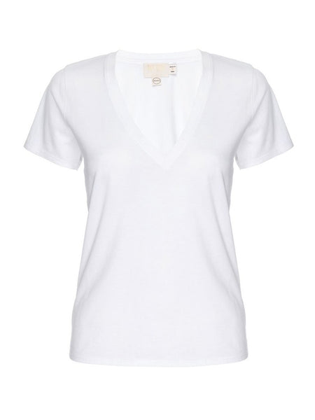 White Blair V Neck Tee, NATION - VALLEY TRIBECA