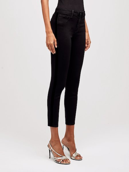 Margot H/R Skinny Tuxedo in Noir, L'AGENCE - VALLEY TRIBECA