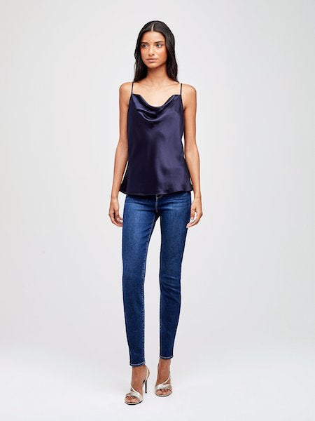 Kay Cowl Tank in Midnight, L'AGENCE - VALLEY TRIBECA