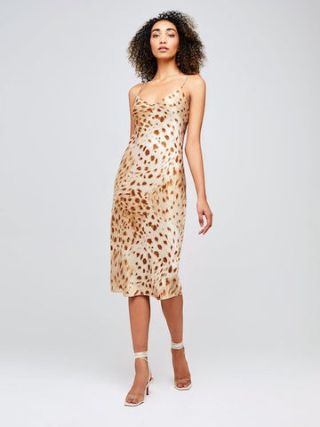 Jodie Slip Dress in Cacao, L'AGENCE - VALLEY TRIBECA