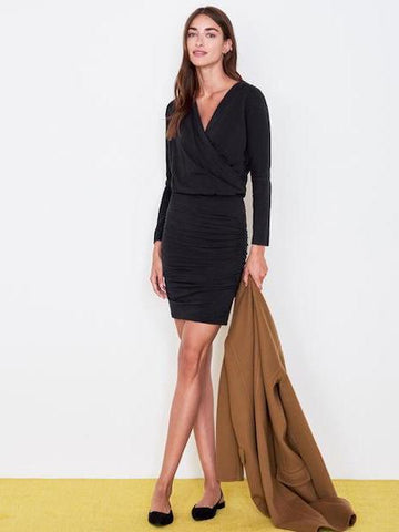 Surplice Ruched Dress, SUNDRY - VALLEY TRIBECA