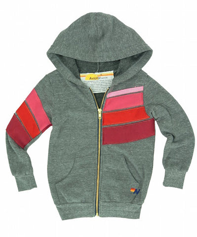 Kids Sports Zip Hoodie, AVIATOR NATION KIDS - VALLEY TRIBECA
