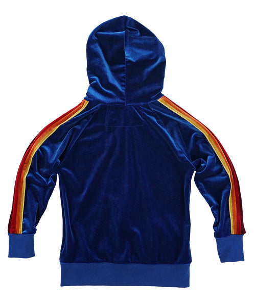 Velvet Zip Hoodie in Royal, AVIATOR NATION KIDS - VALLEY TRIBECA