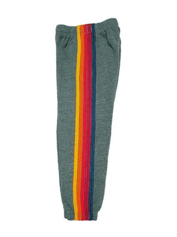 5 Stripe Sweatpant in Heather Grey, AVIATOR NATION KIDS - VALLEY TRIBECA