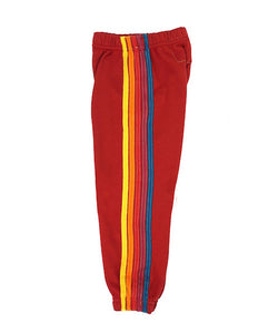 Kids 5 Stripe Sweats - Red, AVIATOR NATION KIDS - VALLEY TRIBECA