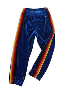 Velvet Sweatpant in Royal