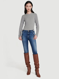 Le High Skinny Side Button in Lupin, FRAME - VALLEY TRIBECA
