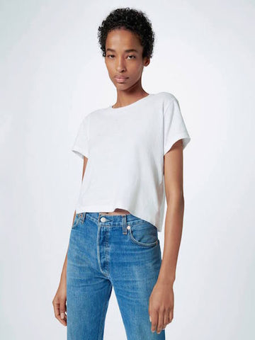 The Classic Tee in Optic White, RE/DONE - VALLEY TRIBECA