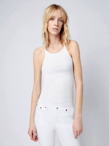 Ribbed Tank in Optic White, RE/DONE - VALLEY TRIBECA