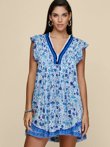 Sasha Dress in Blue Naif, POUPETTE ST BARTH - VALLEY TRIBECA