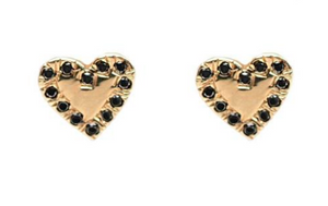 Large Diamond Heart Earrings - Pair, BIANCA PRATT - VALLEY TRIBECA