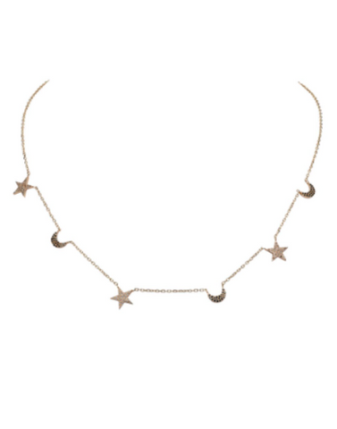 Star & Moon Necklace, BIANCA PRATT - VALLEY TRIBECA