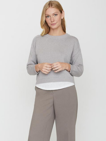 Corbin Pullover in Pale Mink, BROCHU WALKER - VALLEY TRIBECA